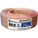 Cavo per altoparlante M&G Techno® 30m 2 x 4 mm² OFC -Echtes KUPFER trasparente