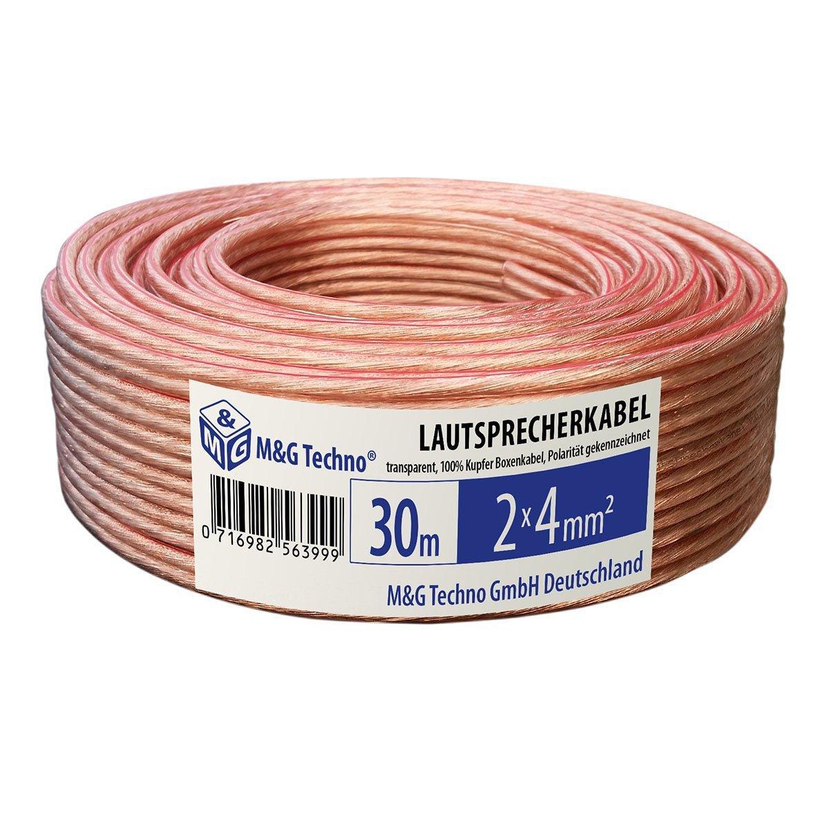 Model 5238 50m Cable de altavoz 2x1,5mm/² CCA ronda negro marcas de longitud