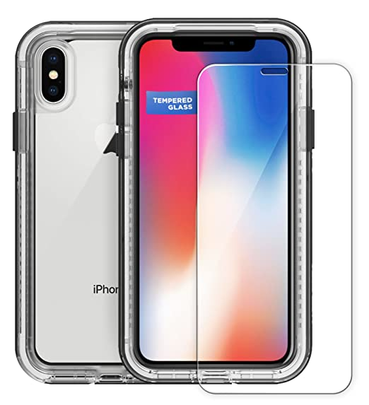 best service 11882 1d460 Encased Tempered Glass Screen Protector for Lifeproof Next Case - iPhone X  (case not Included) Original MagGlass
