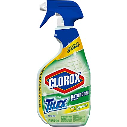Amazoncom Tilex Clorox Plus Bathroom Cleaner Spray Bottle Lemon - Spray bathroom cleaner