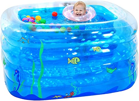 Amazon.com: LZTET - Bañera hinchable para piscina, plegable ...