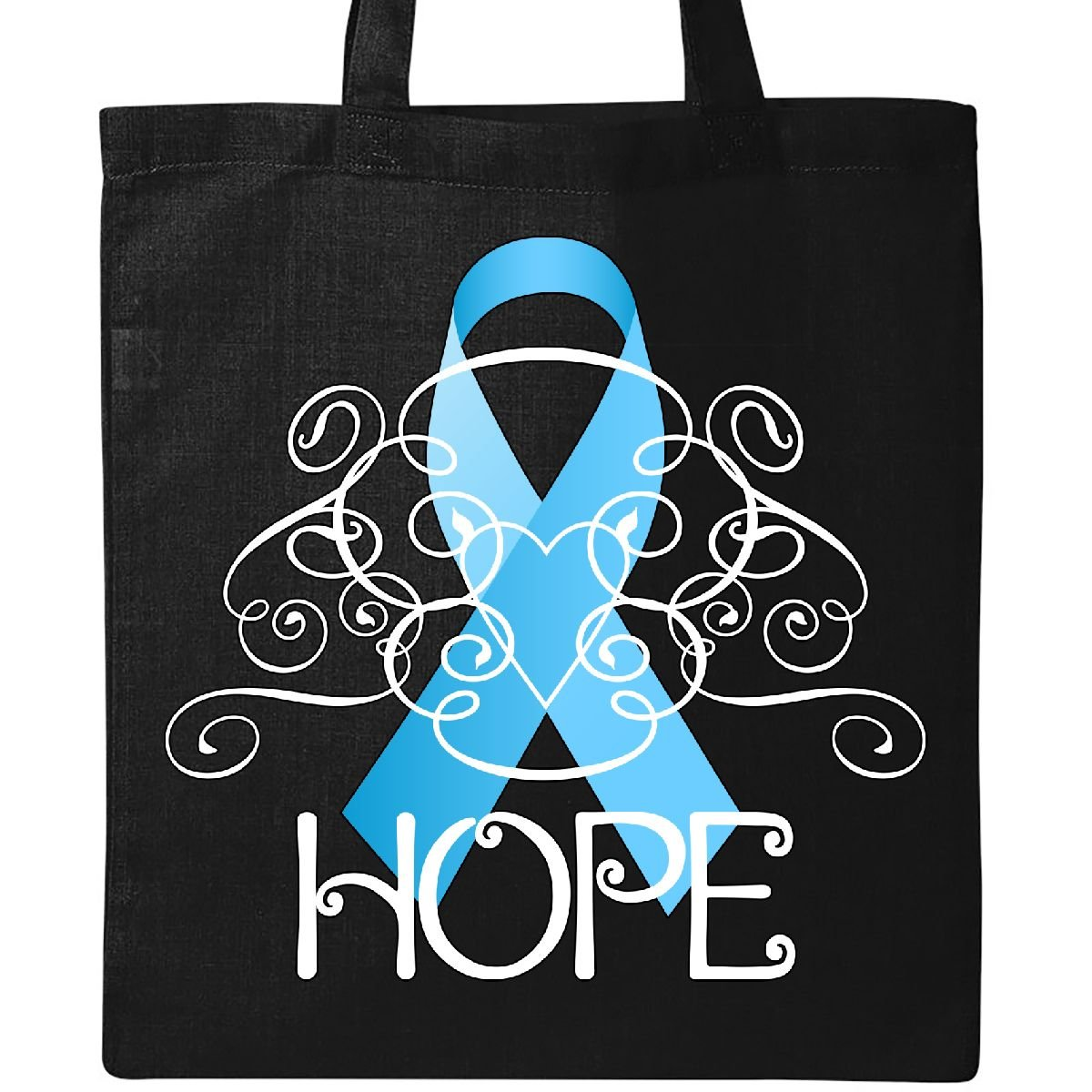 Inktastic – hope-prostate Cancer Awarenessトートバッグ One Size ブラック B076ZZ2X6S ブラック ブラック