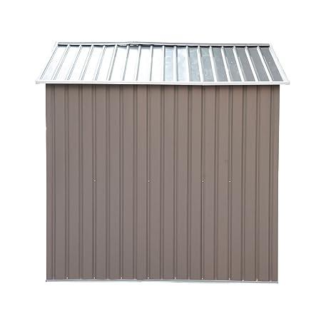 amazoncom outsunny 9 x 6 outdoor metal garden storage shed graywhite patio lawn garden