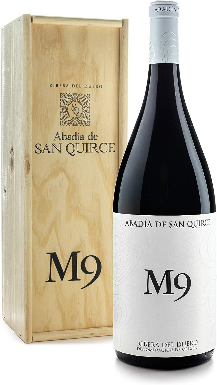 Abadía de San Quirce Vino Tinto M9 Magnum en Caja de Madera - 1500 ml: Amazon.es: Alimentación y bebidas