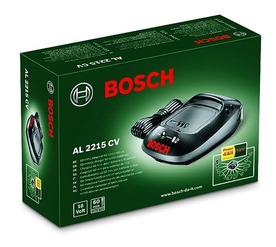 Bosch Home and Garden 1600Z00001 Cargador, Negro
