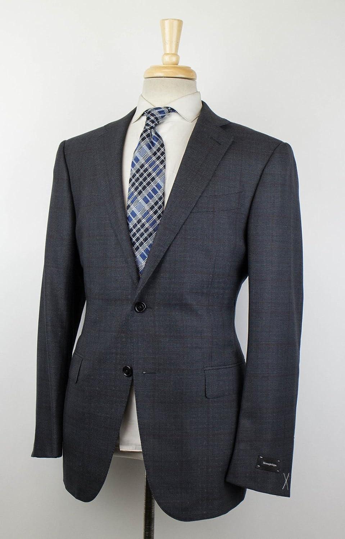 0452f963 Amazon.com: ERMENEGILDO ZEGNA Trofeo 600 Mila Gray Wool Blend Suit ...
