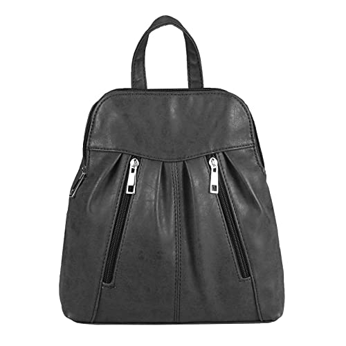Marc Chantal - Bolso mochila de cuero para mujer negro negro 26x28x10 cm (BxHxT): Amazon.es: Zapatos y complementos