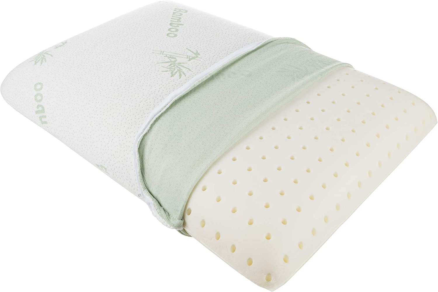 Lavish Home 82-TEX1048 Memory Foam Pillow with Soft, Removable Bamboo Fiber Cover and Ventilation Holes