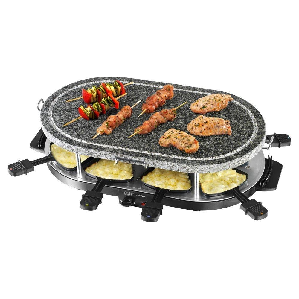 Raclette Grill Australia swan sp17030n raclette with 8 spatulas 1200 watt