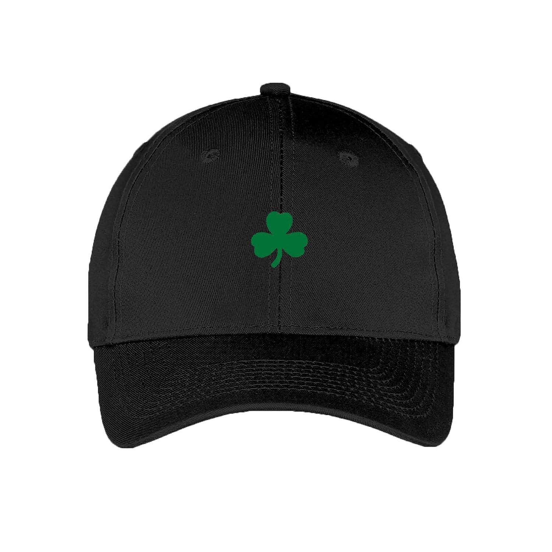 de63200dadd Amazon.com  Shamrock Dad Hat - St Patricks Day Irish Clover Adjustable  Baseball Cap - OS - Black  Clothing