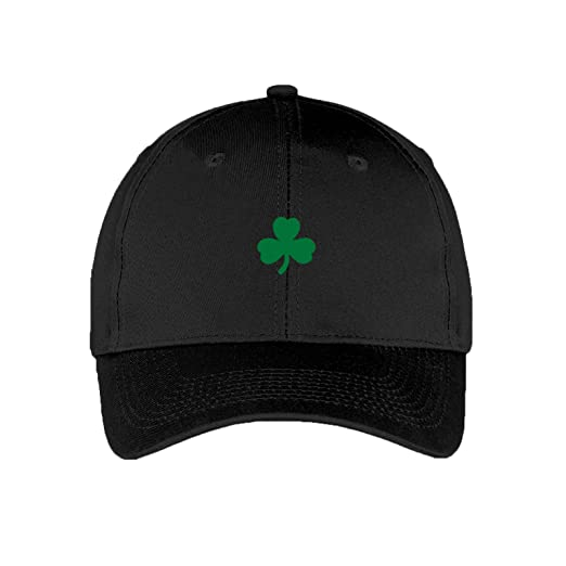 627e36659b8 Shamrock Dad Hat - St Patricks Day Irish Clover Adjustable Baseball Cap -  OS - Black