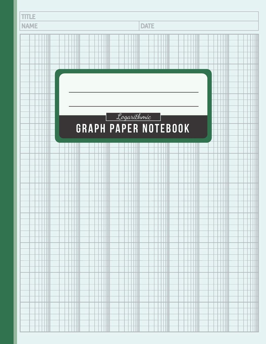 Logarithmic Graph Paper Notebook: Graphing Paper Log-Log Scales ...