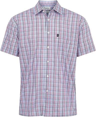 Champion Mens Croyde Seersucker Casual Short Sleeve Shirt