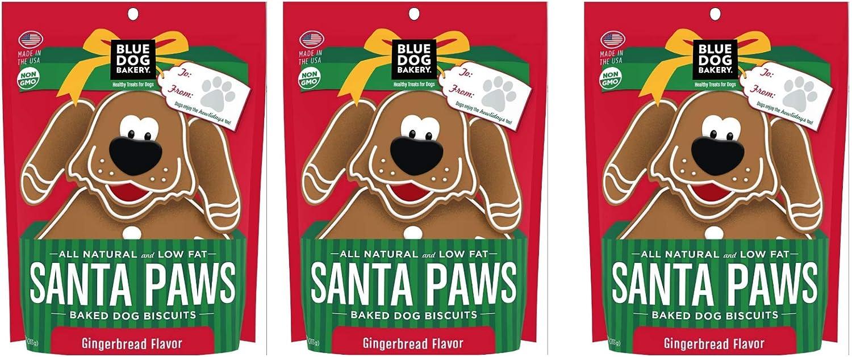Blue Dog Bakery Santa Paws Gingerbread Flavor Dog Treats