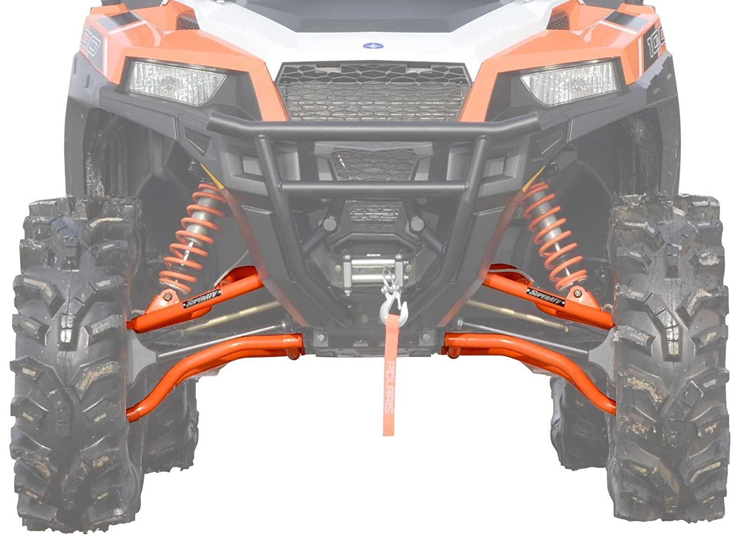 Black - 0 Offset SuperATV Heavy Duty High Clearance A-Arms for Polaris General 1000 // General 1000 4 2017+
