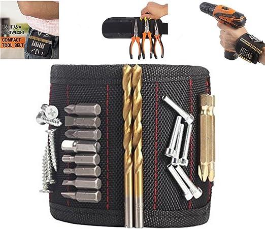 Nouvel outil de stockage Bracelet Boîte à outils ceinture Vis Ciseaux Support magnétique Bracelet