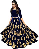 SAVAJ COLLECTION Women Valvet Lehenga Choli (_SVJCN15_Free size)
