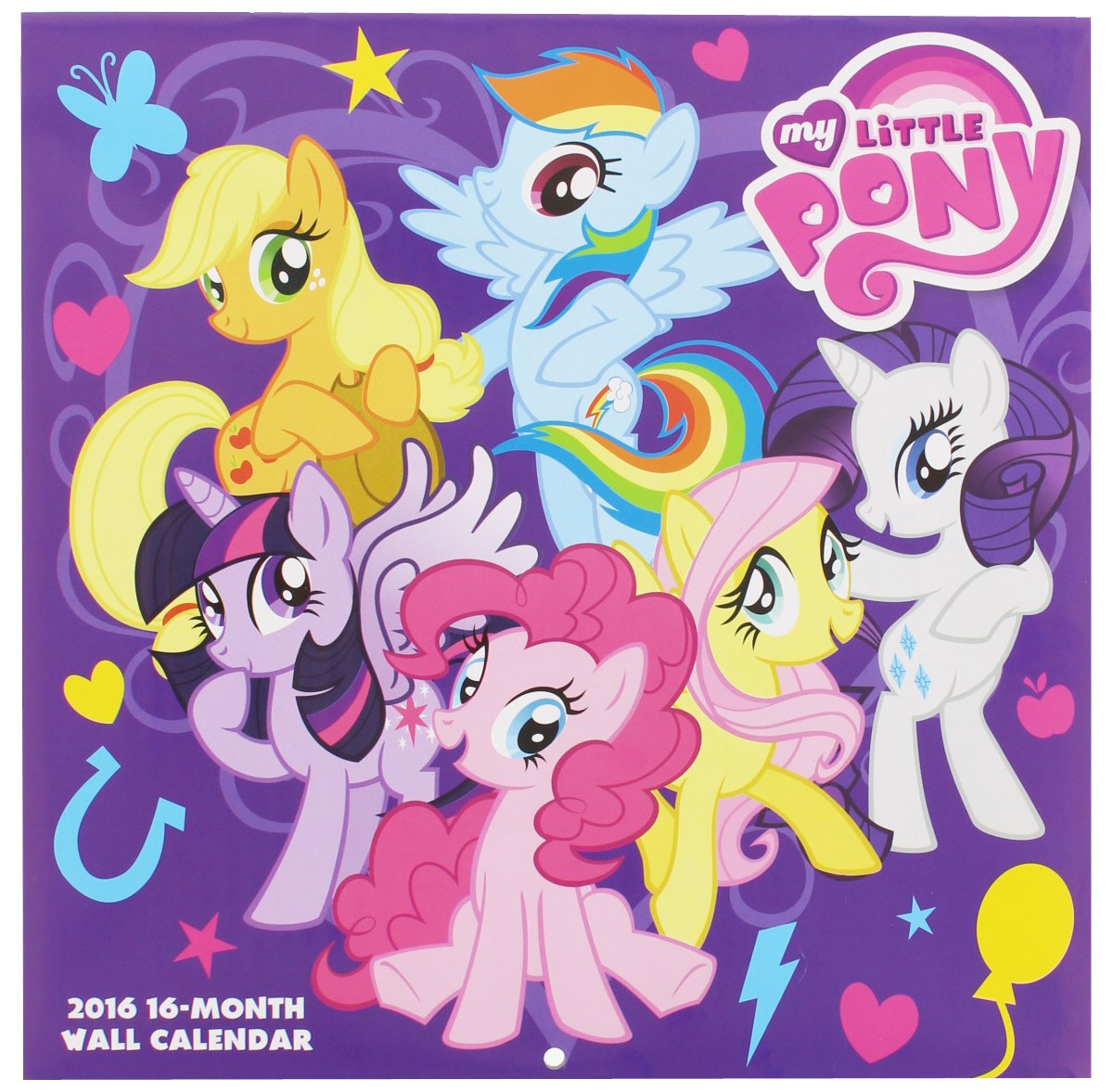 My Little Pony 2016 Square Wall Calendar (12 Months)