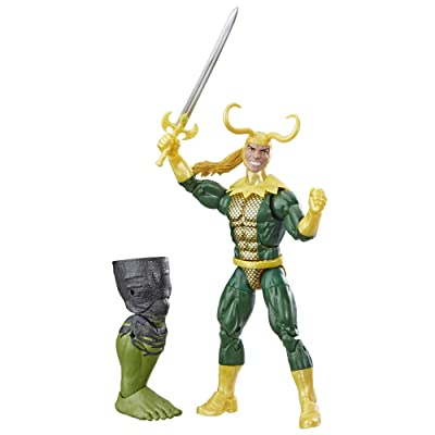 """Marvel Legends Series Loki 6"""" Collectible Marvel Comics Action Figure Toy for Ages 6 & Up with Accessory & Build-A-Figurepiece: Toys & Games"""