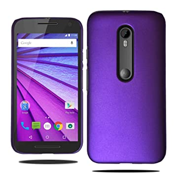 size 40 43e9b 823bf Motorola Moto G3 3rd Generation Stylish Armour Slim Hard Case Cover +  Screen Protector
