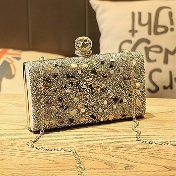 paquete de moda y atractivo venta de tienda outlet zapatos exclusivos QZTG bolso Bolsos De Mujer Bolso De Noche Cristales para ...