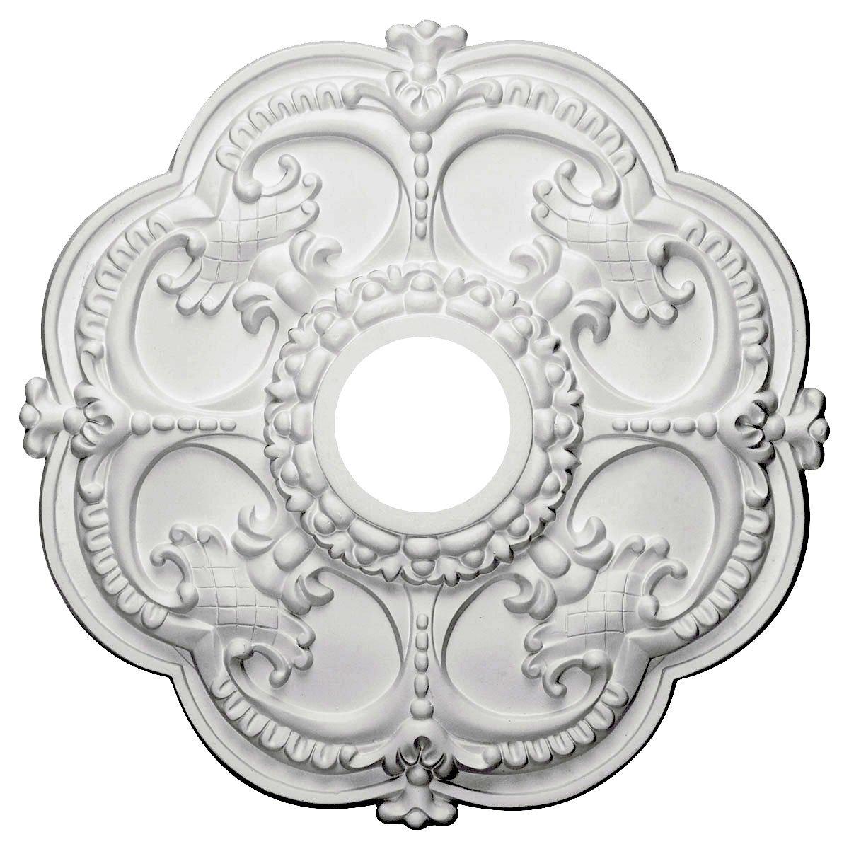 Ekena Millwork CM17RO 18-Inch OD x 3 1/2-Inch ID x 1 1/2-Inch Rotherham Ceiling Medallion