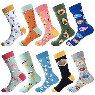 43fb68069 Dress Socks for Men & Women,Colorful Funny Crazy Novelty Fun Dress Socks  Pack,