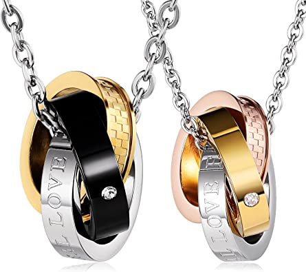 ANAZOZ Stainless Steel Necklaces Womens Chain Pendant Glossy Style Cross Silver /& Gold