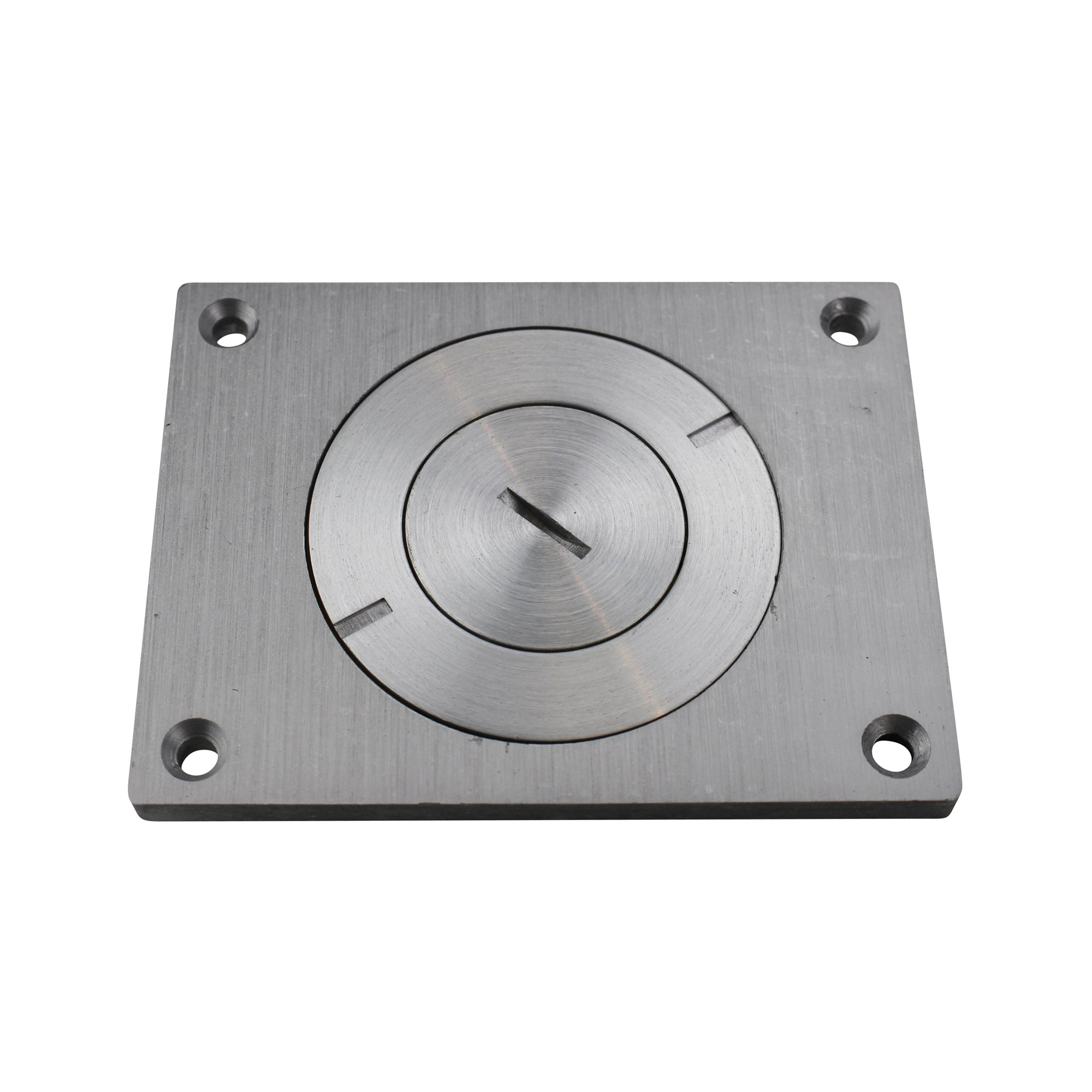 Wiremold 830CKTCAL-1 Aluminum 1-Gang Rectangular Communication Cover Plate 4-5/16 Inch x 3-1/4 Inch Brushed Aluminum