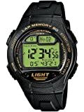 CASIO Collection Men W-734-9AVEF - Reloj digital de cuarzo con correa de resina para hombre (alarma, cronómetro, luz, sumergible a 100 m), color negro