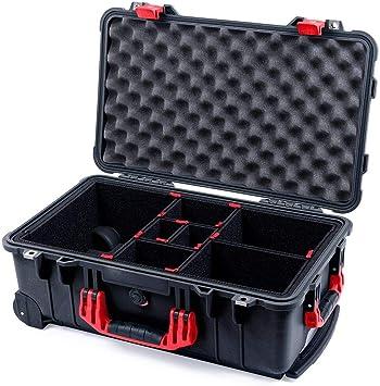 Funda negra y roja Pelican 1510, con sistema separador TrekPak.: Amazon.es: Electrónica