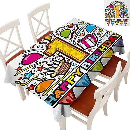 amazon com elegant waterproof spillproof polyester fabric table rh amazon com