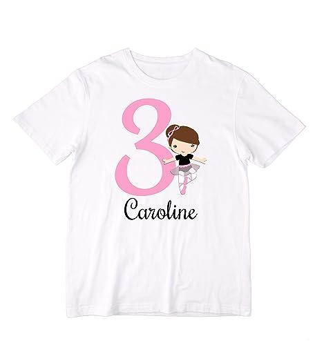 f5611545a172 Amazon.com  Personalized Ballerina Birthday Shirt or Bodysuit ...
