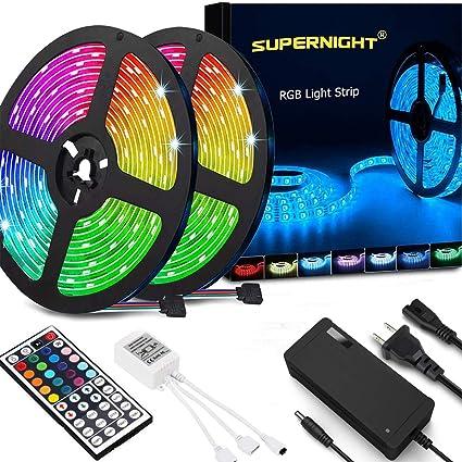 LED Strip Lights 10M 300 LEDs SMD 5050 RGB IP65 Waterproof+44 Keys IR Remote 12V