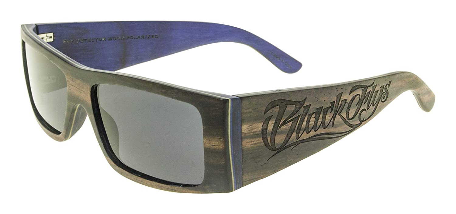 70063a457a Amazon.com  Black Flys Wood Detector Fly Sunglasses - Black Blue -  Polarized  Clothing