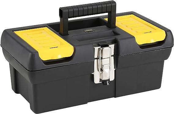 STANLEY 1-92-064 Caja de herramientas millenium con cierres metálicos, 32cm: Amazon.es: Bricolaje y herramientas