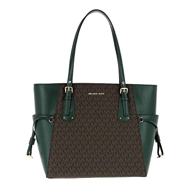 03f941bc2b02 Michael Michael Kors Voyager Leather Tote (Racing Green): Amazon.co ...