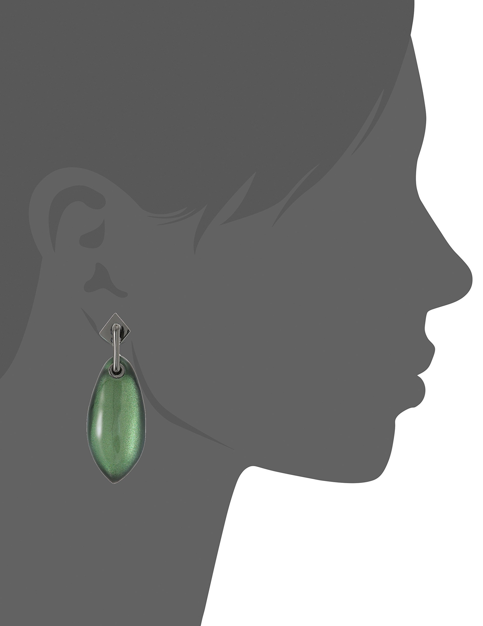 Alexis Bittar Fall 2017 Lucite Post with Back Pave Ball Detail Deep Jade Earrings Jacket