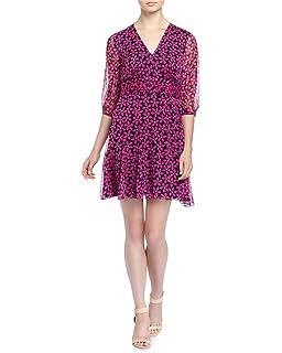 9b7c5fd13d68c Amazon.com  Diane von Furstenberg Snow Cheetah Printed Silk A-Line ...