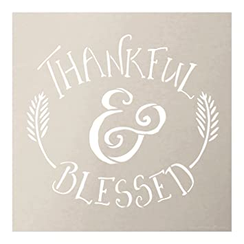 amazon com thankful blessed stencil by studior12 rustic fall