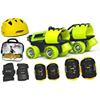 Jaspo Next -Gen Pro Junior Skates Combo (Skates+Helmet+Knee+Elbow+Wrist+Bag) Suitable for Age Upto 5 Years