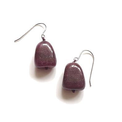 Lola Rose Jannie Black Plum Aragonite Earrings PUZSaJ