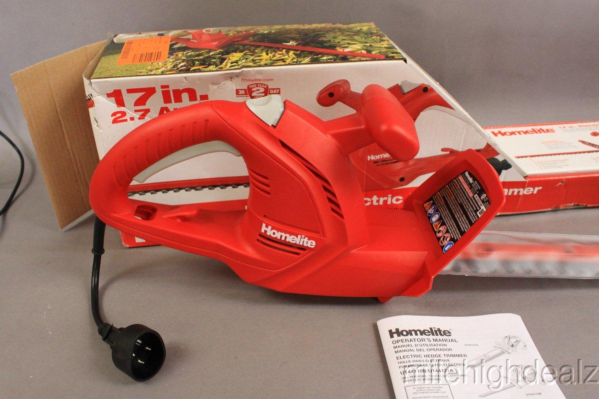 Amazon.com : Homelite 17 2.7 Amp Hedge Trimmer : Power Hedge Trimmers :  Garden & Outdoor