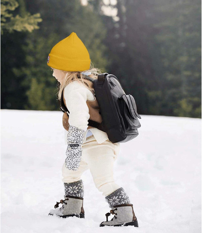 LONGERTW Kids USA Swimming Beanie Hat Classic Winter Outdoor Sport Ski Beanies for Boys