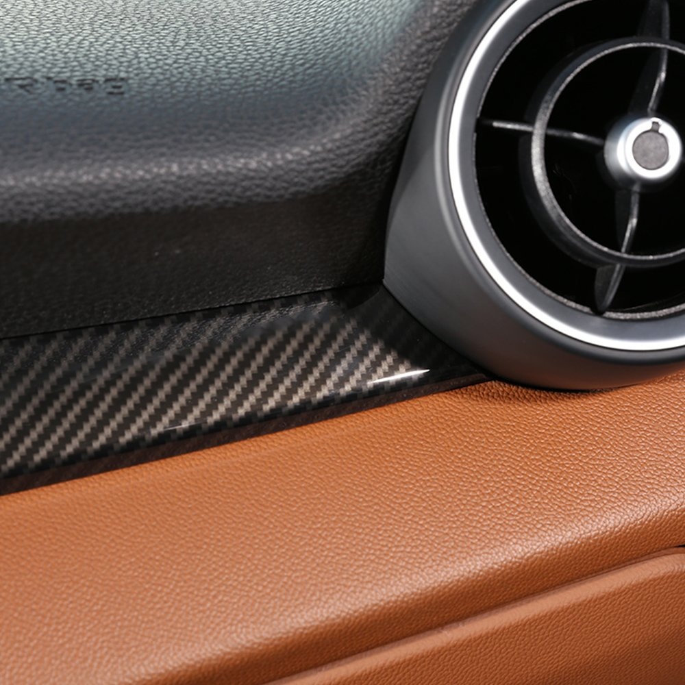 Carbon Style f/ür Giulia 2017/2018/ABS Kunststoff Copilot Dekoration Cover Panel Besatz f/ür linke Hand Treiber