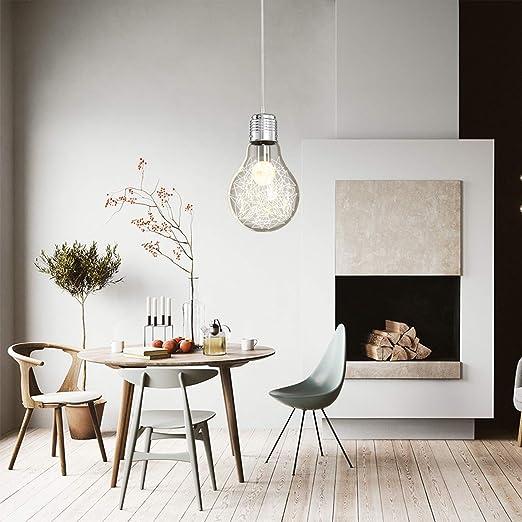 Amazon.com: Lámpara colgante de cristal con diseño de ...