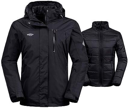 e1e7c3910 Wantdo Women s Interchange Jacket 3-in-1 Winter Coat Wind Block Warm Anorak  with