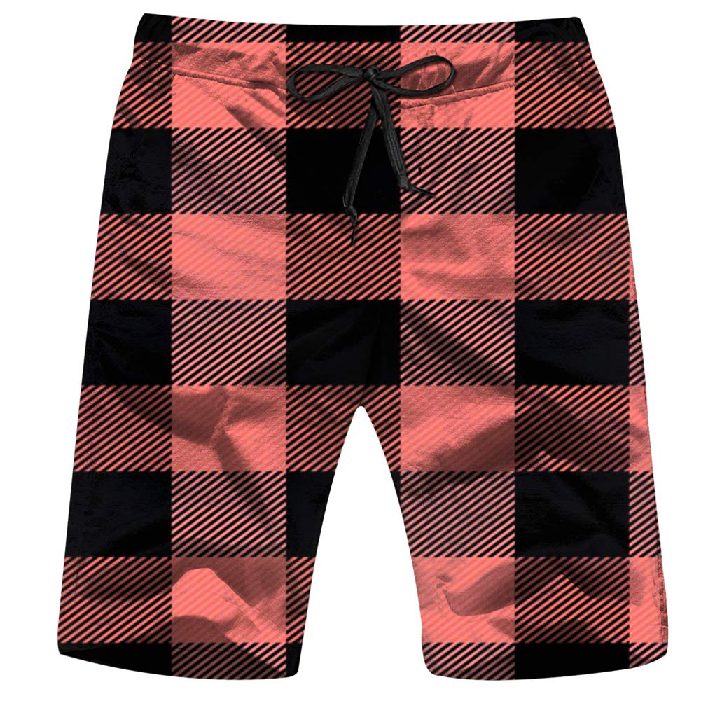 Leopard Print Animal Mens Swim Trunks Summer Beachwear Board Shorts Quick Dry Print