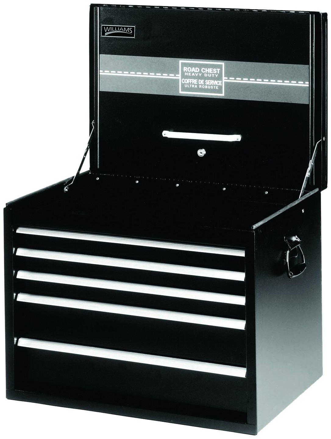 Williams 50946B 5 Drawer Extra-Heavy Duty Roadbox, 26-Inch, Black