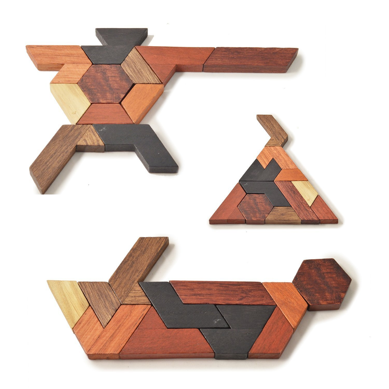 Brain Puzzles for Kids 4 Years Old Tangram Jigsaw Wooden Puzzle Games